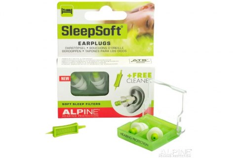ALPINE SleepSoft + Opaska - stopery do spania